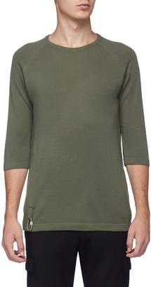 Matthew Miller Short sleeve cashmere-Merino wool sweater