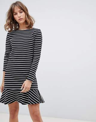 People Tree Mini Dress In Breton Stripe
