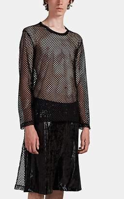 Comme des Garcons Men's Elongated Perforated-Mesh T-Shirt - Black