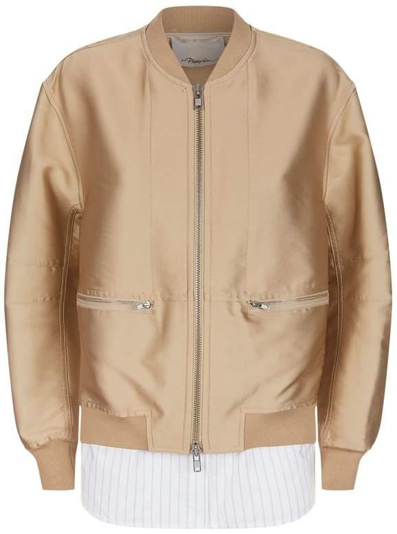 Layered Bomber Jacket