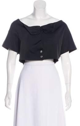 Chloé Short Sleeve Crop Top