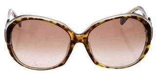 Emilio Pucci Oversize Tortoiseshell Sunglasses
