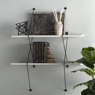 Zipcode Design Bonney 2 Shelf Shelving System with Wire Bracket