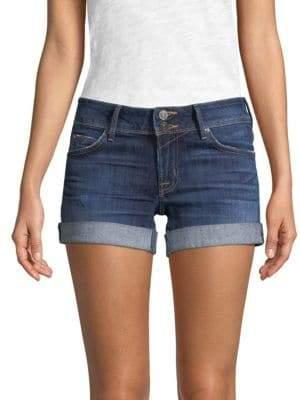 Flap-Pocket Jean Shorts