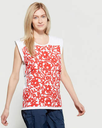 adidas by Stella McCartney White & Red Flower Tank