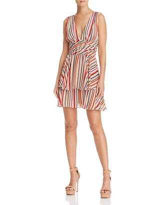WAYF Wilton Tiered Striped Dress