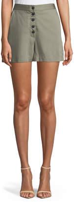 DL1961 Premium Denim Cortlandt Alley Button-Front High-Waist Shorts
