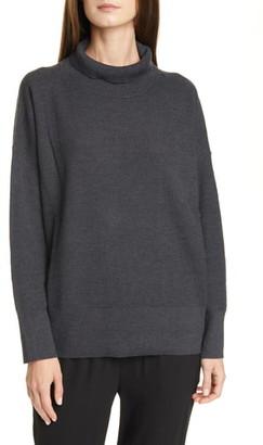 Eileen Fisher Funnel Neck Boxy Merino Sweater