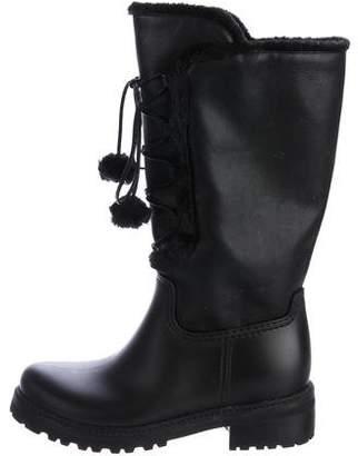 Stuart Weitzman Bearwear Pom-Pom Boots