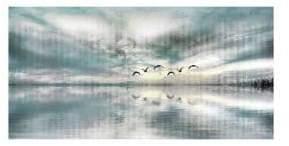 Parvez Taj Birds Skylight Painting Print on Wrapped Canvas
