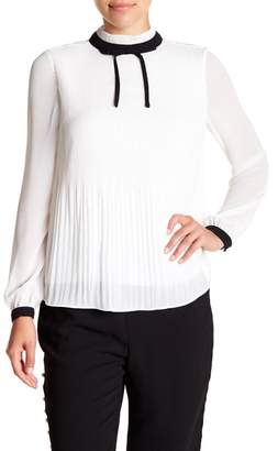 Ted Baker Pleated High Neck Chiffon Top