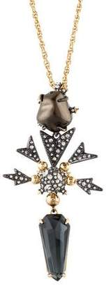 Alexis Bittar Faux Pearl & Crystal Pendant Necklace