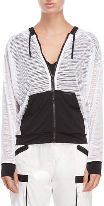 Blanc Noir Poolside Perforated Jacket