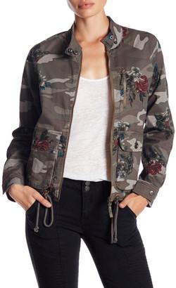 Jolt Camo Floral Twill Jacket $69 thestylecure.com