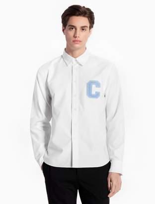 Calvin Klein c-badge cotton woven shirt