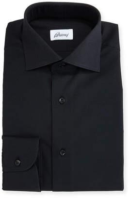 Brioni Textured Dress Shirt, Black
