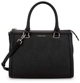 Calvin Klein Mercy Convertible Leather Satchel