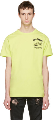Off-White Green Construction T-Shirt $305 thestylecure.com