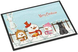 Mini A Ture Caroline's Treasures Merry Christmas Carolers Miniature Schnauzer Doormat Mat