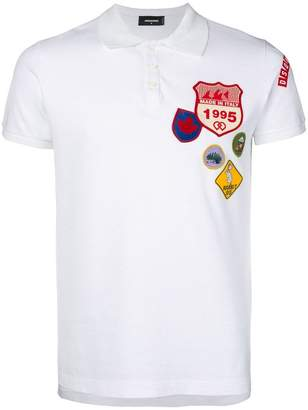 DSQUARED2 patch polo shirt