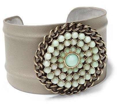 Juicy Couture Sabine Mint Embellished Grey Cuff Bracelet