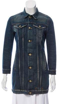R 13 Denim Long Sleeve Jacket