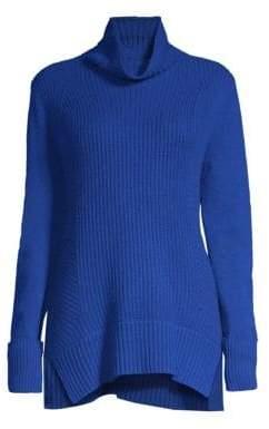 Elie Tahari Tamaya Ribbed Cowlneck Sweater