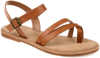 Journee Collection Womens Vasek Ankle Strap Flat Sandals