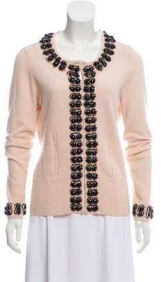 Milly Embellished Cashmere Sweater