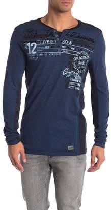 ProjekRaw Projek Raw Henley Jacquard Long Sleeve Shirt