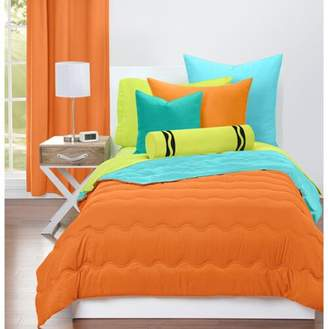 Crayola Outrageous Orange and Turquoise Blue Reversible Comforter Set