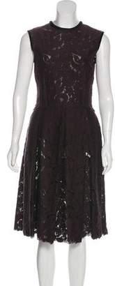 Lanvin Lace A-Line Dress