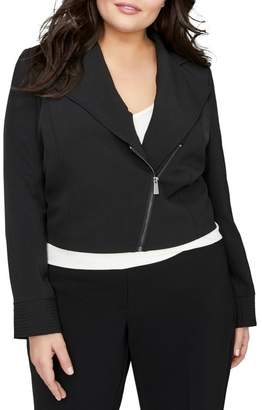 Moto MICHEL STUDIO Crop Jacket (Plus Size)