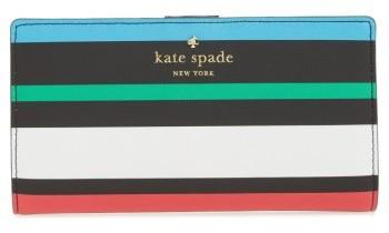 Kate SpadeWomen's Kate Spade New York Harding Street - Fiesta Stripe Stacy Wallet - Black