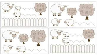 JoJo Designs Little Lamb Baby and Kids Wall Decal Stickers by Sweet Set of 4 Sheets