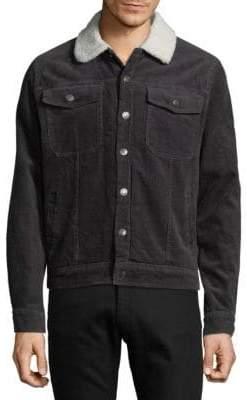 Saks Fifth Avenue Cord Trucker Sherpa Trimmed Cotton Jacket
