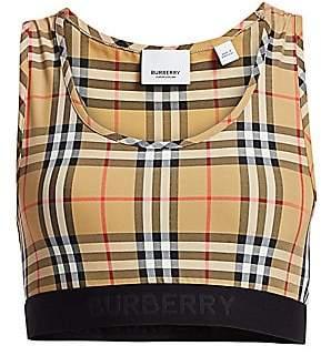 Burberry Women's Dalby Check Print Bra