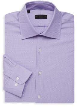 Textured Long-Sleeve Dress Shirt