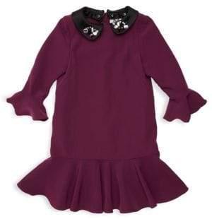 Milly Minis Little Girl's& Girl's Bridgette Embellished Collar Dress