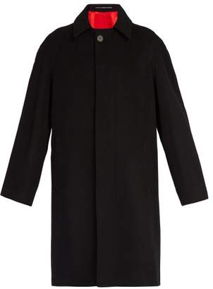 Givenchy Raglan Sleeve Wool Blend Coat - Mens - Black