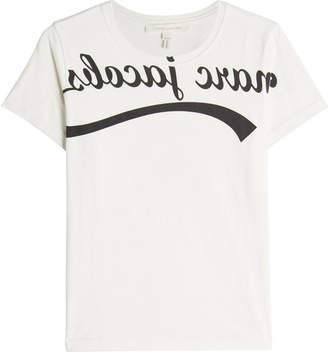 Marc Jacobs Reverse Logo Printed Cotton T-Shirt
