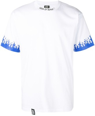 Vision Of Super flame print logo T-shirt