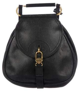 Delvaux Leather Clasp Backpack