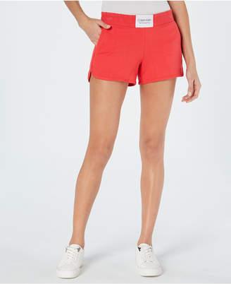 Calvin Klein Smocked-Waistband Shorts