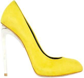 071621e83b3 Giuseppe Zanotti Yellow Suede Heels
