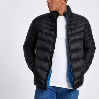 River Island Black zip front funnel neck puffer jacket