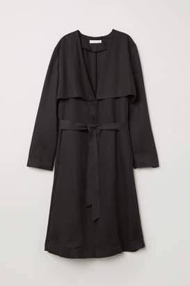 H&M Lyocell Trenchcoat - Gray