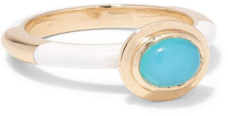 Alice Cicolini Candy 14-karat Gold And Enamel Opal Ring - 6 1/2