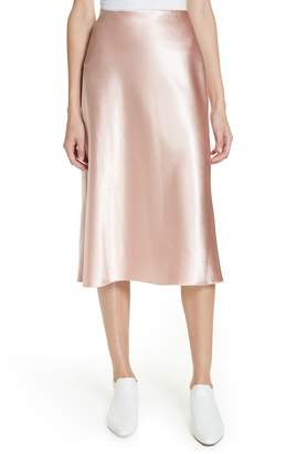 Vince Satin Slip Skirt