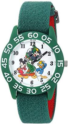 Disney Boy's Mickey Mouse' Quartz Plastic and Nylon Casual Watch